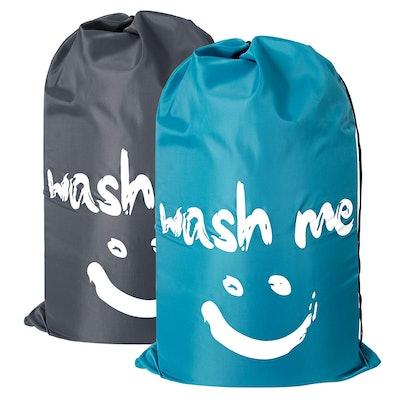 2 Pack Extra Large Travel Laundry Bag Set Nylon Rip-stop Dirty Storage Bag