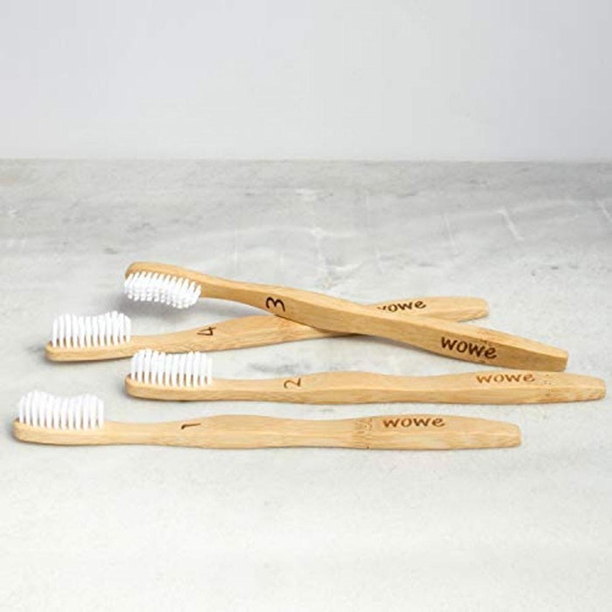 Wowe Bamboo Toothbrush (4 Pack)
