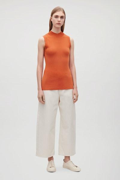 Cotton-Silk Vest Top