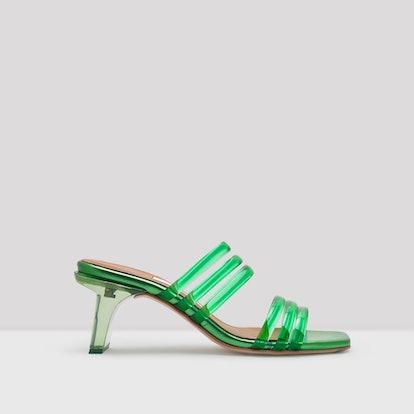 Helena Green Vinyl Sandals