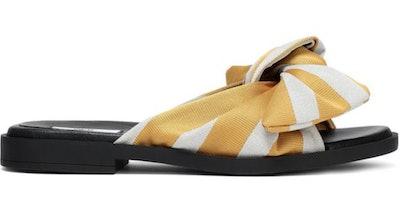 Miista Valerie Bow-Embellished Satin Slides