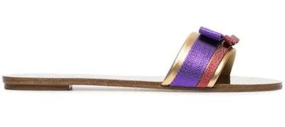 Sophia Webster Andie Bow Embellished Slides