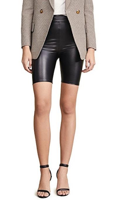 PU Biker Shorts