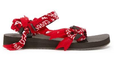 Arizona Love Trekky Bandana-Wrapped Sandals