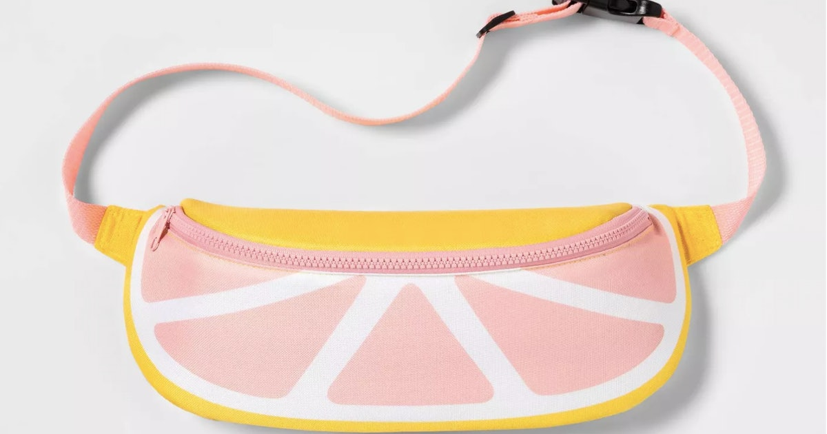 Target's Grapefruit Fanny Pack Cooler Is Perfect For Taking Cans Of Wine To The Beach