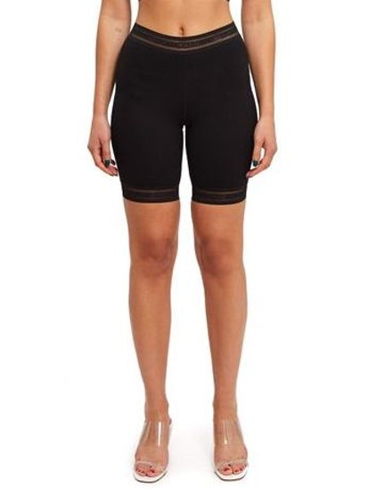 Black Bonded Bike Shorts