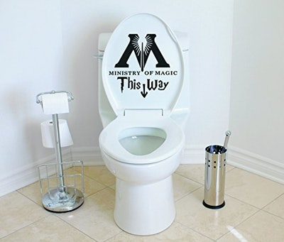 Ministry of Magic This Way Harry Potter Toilet Decor Wall Decal