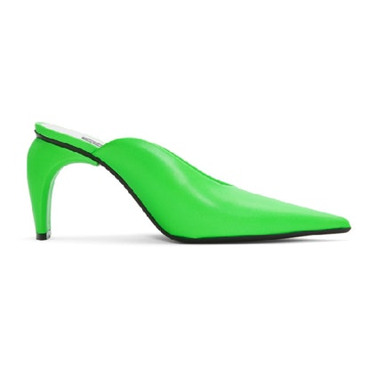 Green Pandora Slicer Mules
