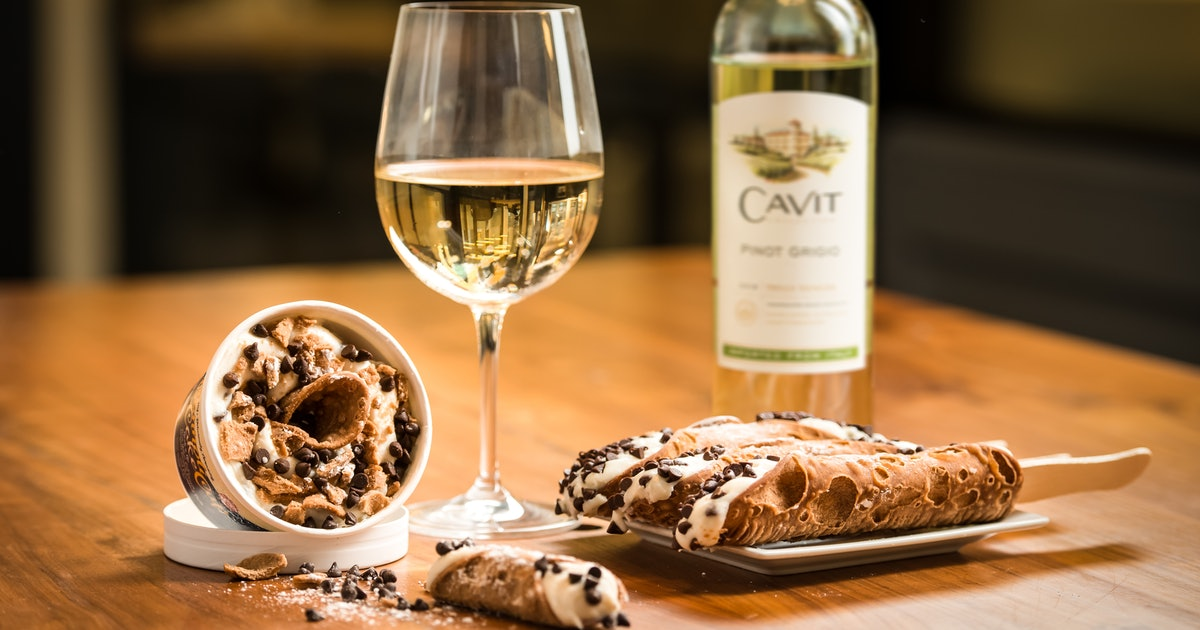 These Cavit Pinot Grigio-Infused Cannolis Are Perfect For National Cannoli Day