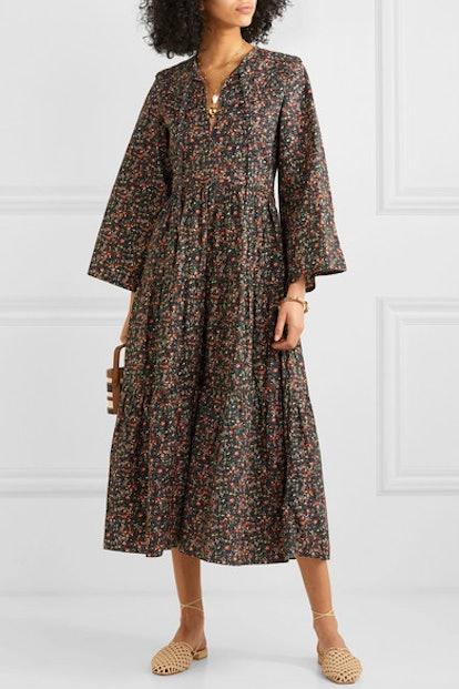 Honey Tiered Floral-Print Cotton Dress