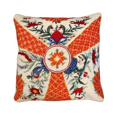 Imari Flower & Dragon Needlepoint Pillows