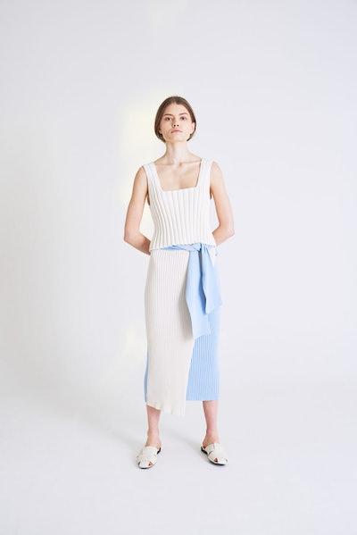 Yuna Skirt Latte-Azurro