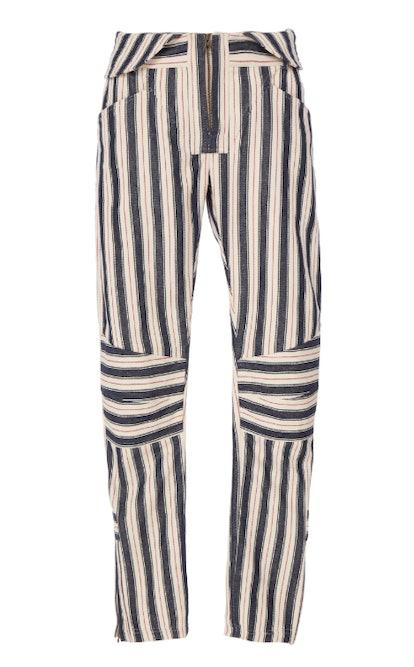 Striped Moto Pant
