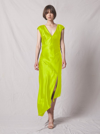 Desiree Open Back Dress - Lime