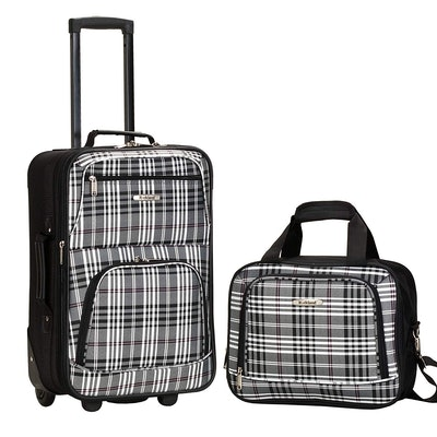 Rockland Luggage Two-Piece Printed Set
