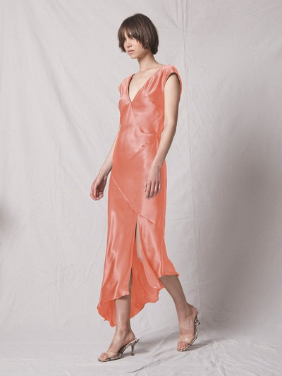 Desiree Open Back Dress - Electric Coral