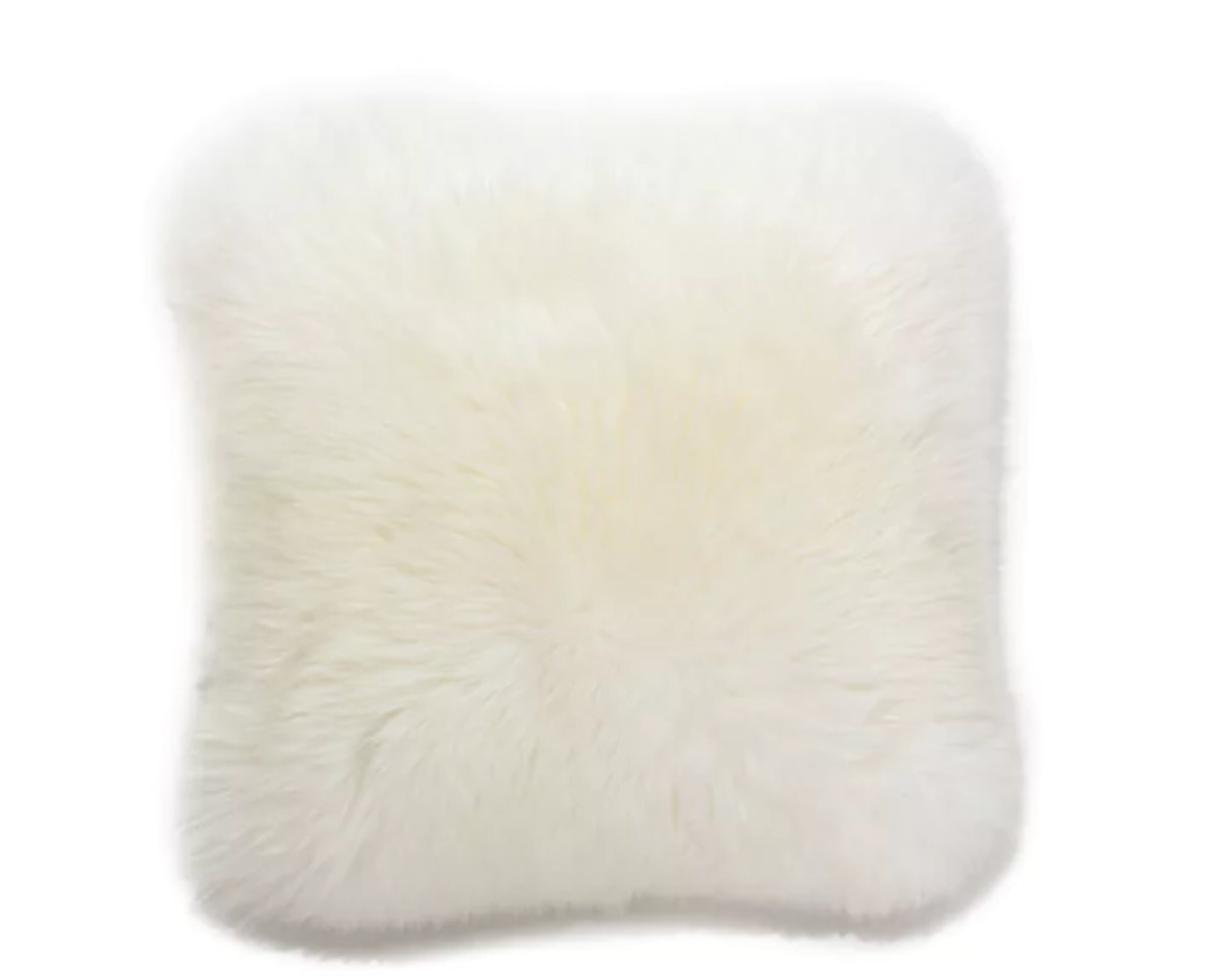 Lanna Ivory Sheepskin Pillow