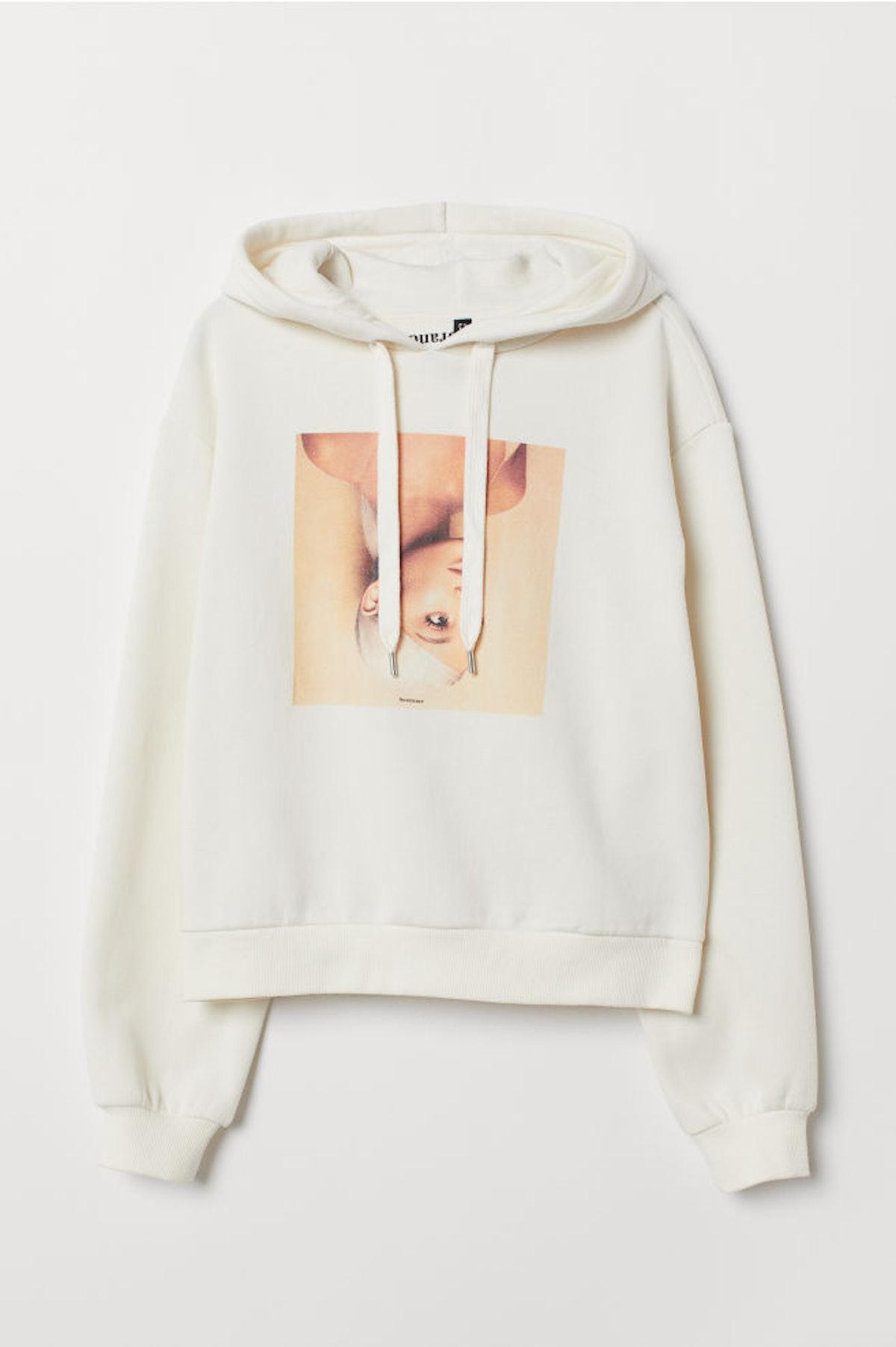 Short Printed Hooded Top