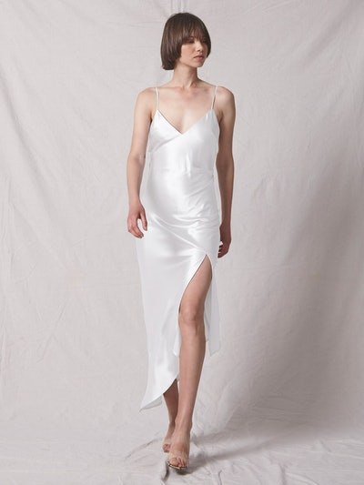 Jagger Asymmetrical Slip Dress - Ivory