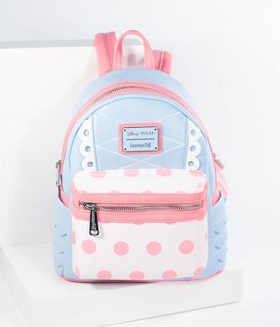 Loungefly Blue & Pink Bo Peep Leatherette Disney Pixar Mini Backpack