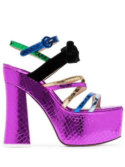 Multicoloured Bibbi Greta Platform Heels