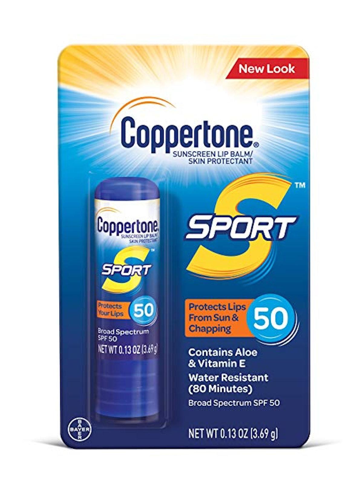Coppertone Sport Sunscreen Lip Balm SPF 50