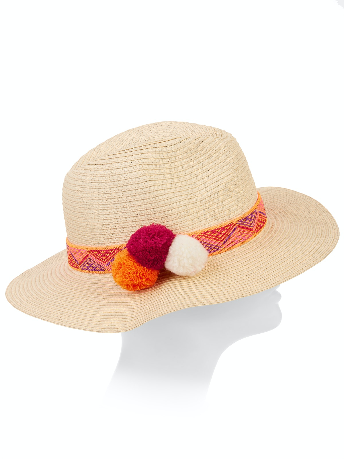 Eliza May Rose Women's Contrast Color Straw Fedora