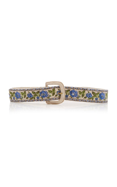 Santana Shirred Embroidered Belt