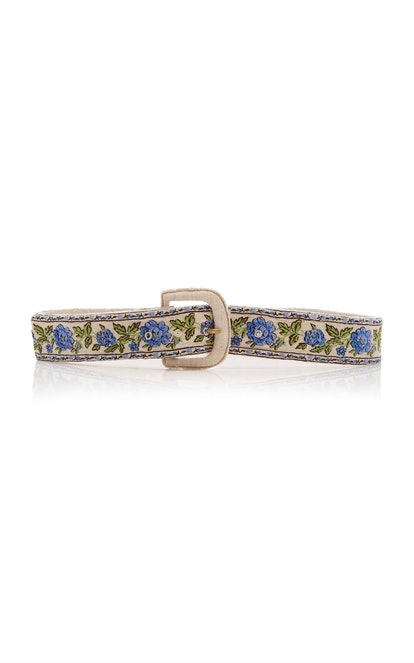 Santana Shirred Embroidered Belt