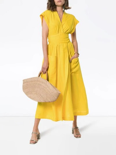 Clarissa Belted Wrap Dress