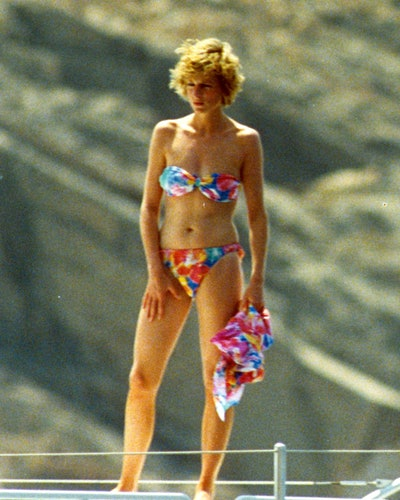 Princess Diana vacationed in South of Italy in the '80s and '90s while wearing a multicolored bandea...