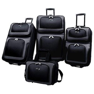U.S Traveler New Yorker Four-Piece Expandable Luggage Set