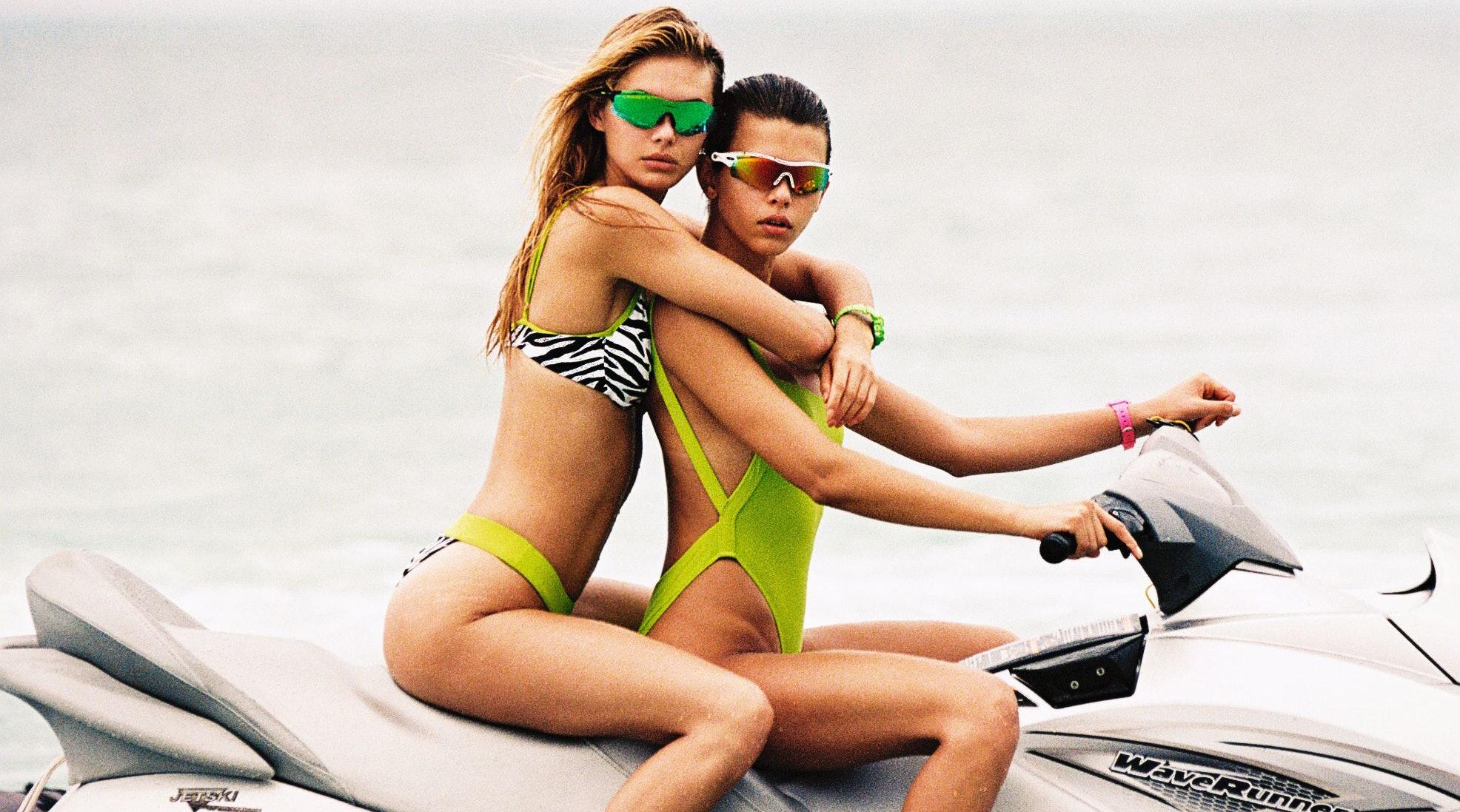 90/'s style cheeky swimsuit Women/'s bandeau bikini bathing suit