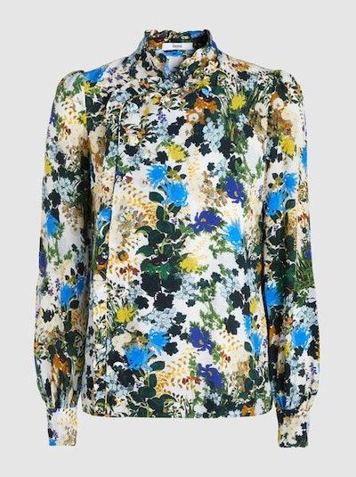 Edlyn Mariko Printed Silk Blouse