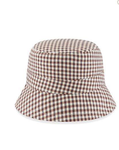 Reversible Gingham Bucket Hat
