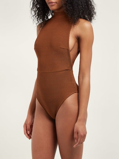 Haight Kate Cut-Out Stretch-Knit Swimsuit