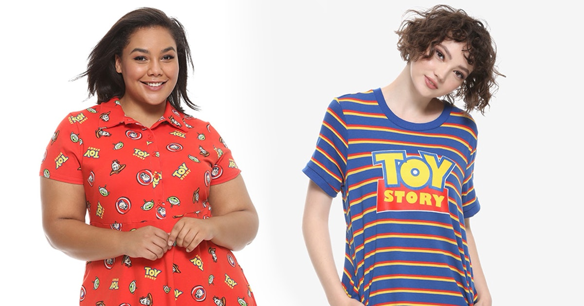 What's In Hot Topic's 'Toy Story' Collection? Tees, Dresses, & More In Sizes Up To 3X