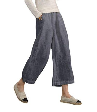 Ecupper Trouser Cropped Wide-Leg Pants