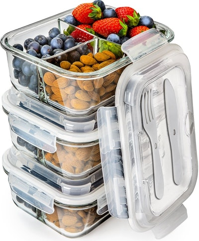 Prep Naturals Glass Food Containers (Set of 3)