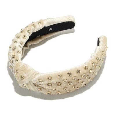 Ivory Crystal Headband