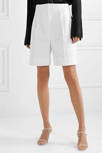 Abby Cotton-Twill Shorts
