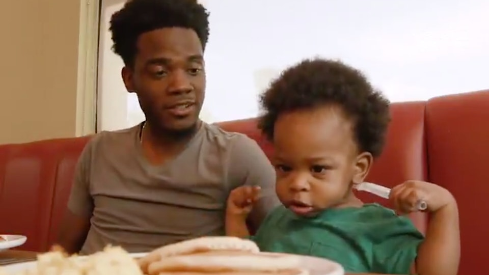 Image result for dad and baby viral video
