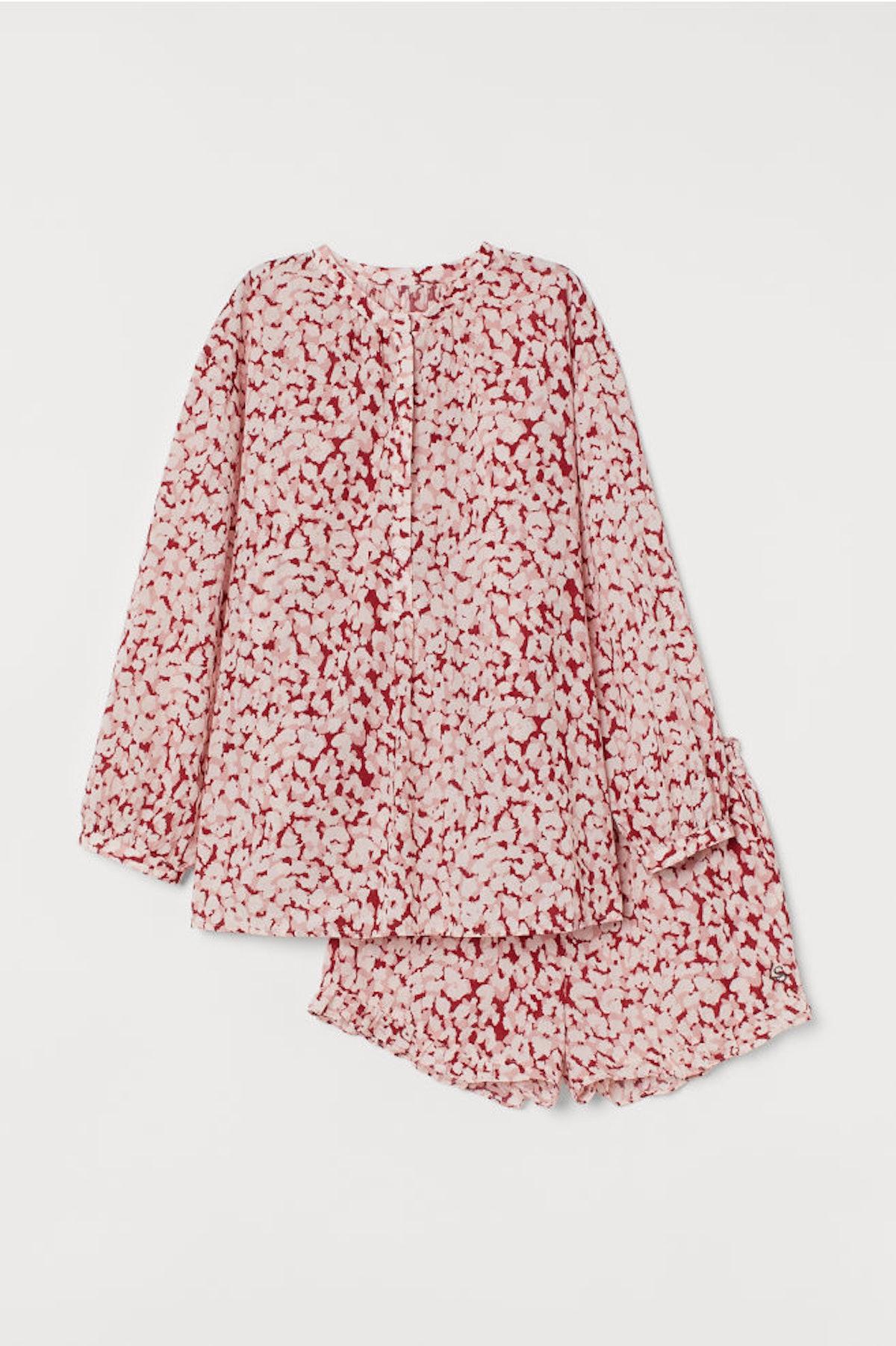 Pajama Blouse and Shorts