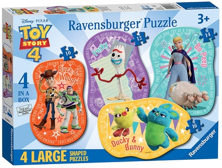 Disney Pixar 'Toy Story 4' 4 Large Shaped Jigsaw Puzzles