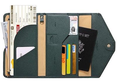 Zoppen Multi-purpose Rfid Blocking Travel Wallet