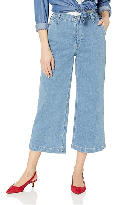 "J.Crew Mercantile Women's 10"" High-Rise Wide Leg Jean"