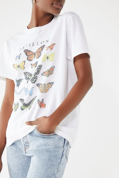 Butterfly Crew Neck Tee