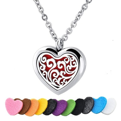 Long Way Stainless Steel Essential Oil Diffuser Necklace