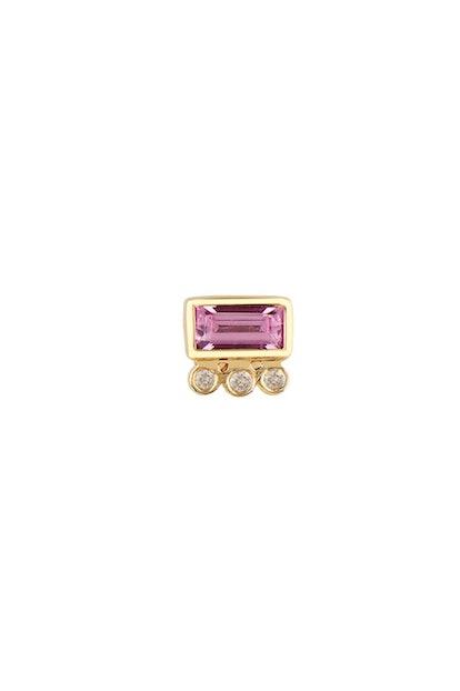 Pink Tourmaline Earring