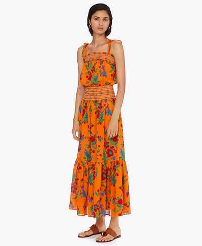 Smocked Sundress in Toucan Floral